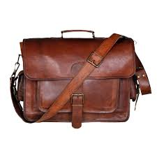 new laptop briefcase mens genuine vintage leather messenger handbag satchel bag
