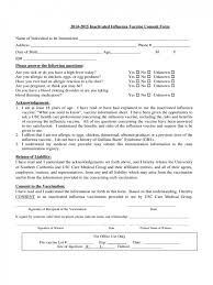 Consent Form New Flu Vaccine Consent Form Pdf Influenza Shot Texas Mmr Spanish Free