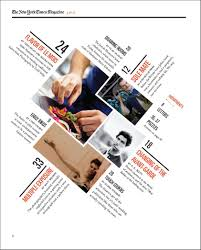 Table Of Contents Design Pinterest A Redesigned New York Times Magazine Table Of Contents Made