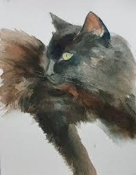 black cat painting 1