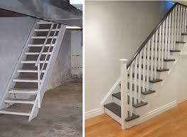 Afbeeldingsresultaat Voor Stairs Before After Trap En Gang - Painted basement stairs