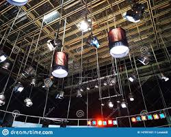 Studio Lighting Grid Design Grid Of Lights In A Television Studio Stock Image Image Of