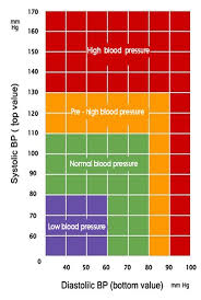 Blood Reading Chart Blood Pressure Charts Blood Pressure Monitoring