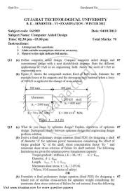 Design Engineering Gtu Syllabus Computer Aided Design 2012 2013 Bachelor Of Engineering In