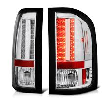 2009-2010 Chevy Silverado Euro Style LED Tail Lights(SMALL REVERSE ...