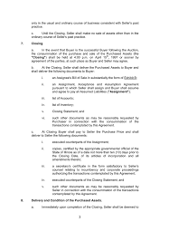 Asset Purchase Agreement In Word And Pdf Formats - Page 3 Of 8