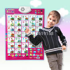 Us 11 27 51 Off Russian Wall Hanging Chart Reading Machine Toys Multifunction Learn Abc Letter Word Wall Map Electronic Educational Toy For Kid In