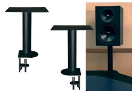 desk mount speaker stands experimental projectiondesk com with decorations 16