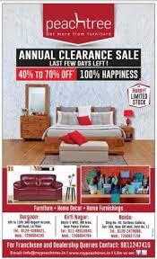 peachtree furniture ad delhi times 10 6 2017 Discount Sale