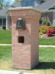 mailbox post designs Various Optional Features of Brick Mailbox