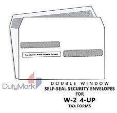 Amazon Com W 2 Envelopes Tax Double Window Security Envelope For