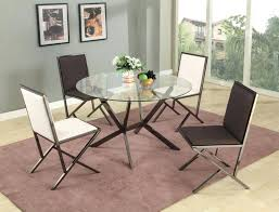 large modern dining table beveled edge round glass dining table with four chairs modern round glass dining table set