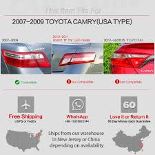 Tail Lights For 2007-2009 Toyota Camry LED Brake Rear Lamps Black ...