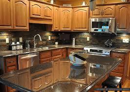 black granite countertops with tile backsplash. Beautiful Kitchen Backsplash Ideas Black Granite Countertops With Tile T