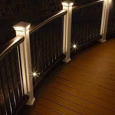 led deck lighting ideas. Led Deck Post Lights. Trex Pyramid Cap Lights And Recessed | Lighting Ideas E