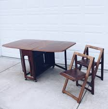 Drop Leaf Gateleg Dining Table With  Storable Chairs Set Chatham - Coffee chairs and tables