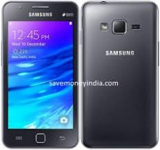samsung z1. samsung-z1 features 4\u2033 touchscreen display, 768mb ram, 4gb internal memory expandable upto 64gb, 3.1mp and 0.3mp camera, 1500mah battery, dual sim \u0026 tizen samsung z1