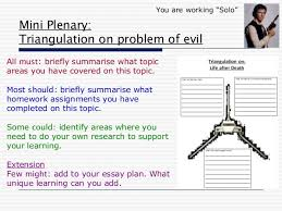 powerpoint problem of evil 8 mini plenary triangulation on problem of evil