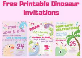 free dinosaur party invitations free printable dinosaur birthday invitations 3 different