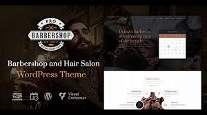 Barber Shop Website Barbershop Pro Creative Barbershop And Hair Salon Wordpress Theme