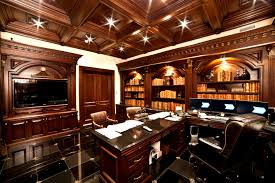 home office luxury home office design. Archways-and-brown-tone-wood-in-traditional-home- Home Office Luxury Design