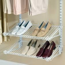 closetmaid shoe shelf shelftrack 4 ft wire kit