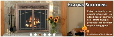 manufactured fireplace doors masonry heating solutions custom built in screens glass