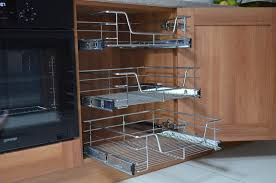 pull out wire basket kitchen cabinet base unit larder cupboard soft close chrome 1 of 4free