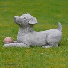 dog garden statue. Modren Dog Hand Cast Stone JACK RUSSELL Garden Ornament Dog Statue Sculpture  Onefolduk 1 Of 3Only Available  Intended H