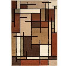 home interior crammed rugs 5x8 allen roth addington brown tan indoor area rug