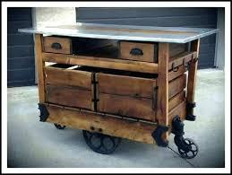 outdoor prep cart storage kitchen island butcher block drop leaf grill