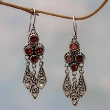 garnet chandelier earrings forest princess sterling silver garnet chandelier earrings