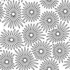 白と黒の色でシンプルのシームレス花柄背景