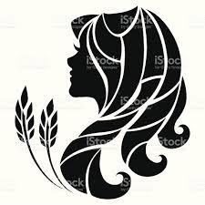 Stylized Symbol Of Virgo Isolated On White Background тату дева