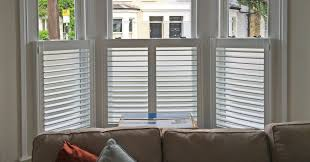 best place to buy plantation shutters.  Buy Andy Duwell  Cafe Style Bay Window CROP To Best Place Buy Plantation Shutters