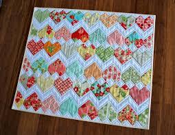 ZigZag Love Heart Quilt Pattern | Kuviot,Vauvan tilkkupeitto ja ... & ZigZag Love Heart Quilt Pattern Adamdwight.com