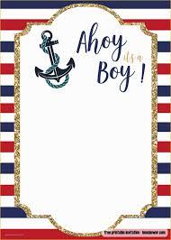40th Birthday Invitations Free Templates Nautical Theme Baby Shower Invitations Luxury Free Nautical