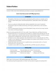 resume objective for cost accountant  best create professional