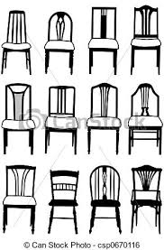 dining chair clipart. dining chairs - csp0670116 chair clipart v