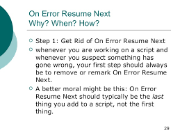 Related Post of Resume next vba