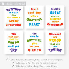 Motivational Inspirational Quote Posters For Kids Instant Download