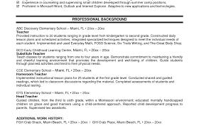 Resume Good Resume Template Amazing Resume Examples For Teachers
