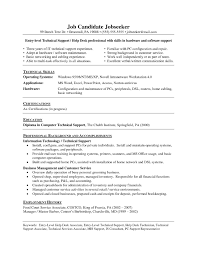 Resume For Computer Service Technician New Cable Technician Resume