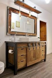 rustic bathroom vanities ideas. Fine Rustic 5 Weathered Wood With Barn Doors With Rustic Bathroom Vanities Ideas S