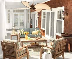 modern living room ceiling fan. think outside the building with a breezy fan and comfy seating. modern living room ceiling