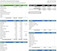 Income Expenses Excel Template Free Budget Home Track Your Personal