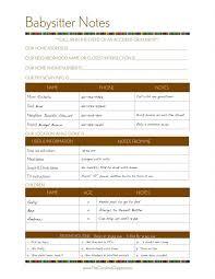 babysitter information sheet printable babysitter instructions template oyle kalakaari co