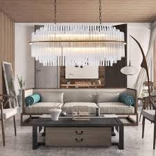 Luxus Moderne Glas Kronleuchter Beleuchtung Oval Design Hängelampe Für Esszimmer Große Led Pendelleuchte Lüster De Cristal