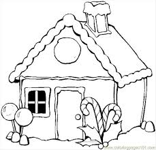 Small Picture Winter House Coloring Page Free Houses Coloring Pages
