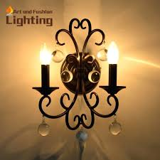 sconce crystal and iron decorative wall sconce flower shape lights classical candle wall lights for